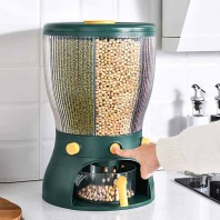 Multifunction 360 Rotatable 4 in 1 Grains Dispenser Rice Dispenser Food Compartment Storage Box