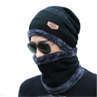 Unisex One Size Knit Cold Cap And Scarf