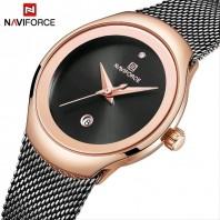 Naviforce NF5004   Ladies Mesh Stainless Steel Quartz Watch 3226