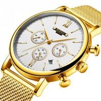 Creative Men watch brand GIMTO Fashion luxury business Waterproof calendar Male Clock Analog Quartz Wristwatches Relogio Masculino Hardlex 3316