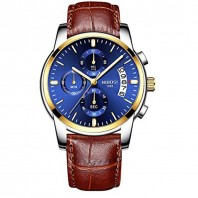 Mens Watches Waterproof Luxury Brand Chronograph Sports Watches Men Full Steel Quartz Business Casual Wrist Watch Leather 3338
