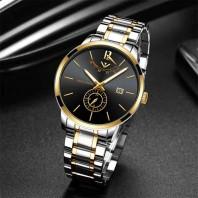 NIBOSI Masculino Relojes Watch - Silver Black