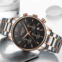 NIBOSI Mens Watches Stainless Steel Waterproof Quartz Watch Men Brand Luxury Clock Male Sports Wrist Watch Wholesale Saat-3182
