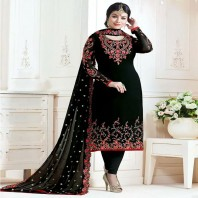 Stylish Embroidered Georgette Bollywood Salwar Suit